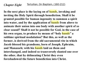 Tertullian_laying hands