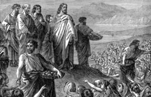 Jesus-feeding crowd