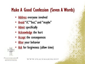 7 A of Confession - Ken Sande - Peacemaker